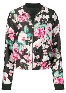 Philipp Plein floral print bomber jacket