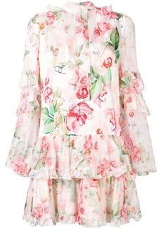 Philipp Plein floral scarf neck dress