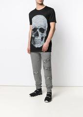 Philipp Plein grey logo track pants