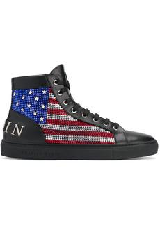 Philipp Plein Hi-Top flag sneakers