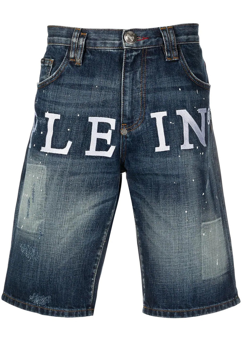 Philipp Plein Iconic Plein St. Tropez fit denim shorts