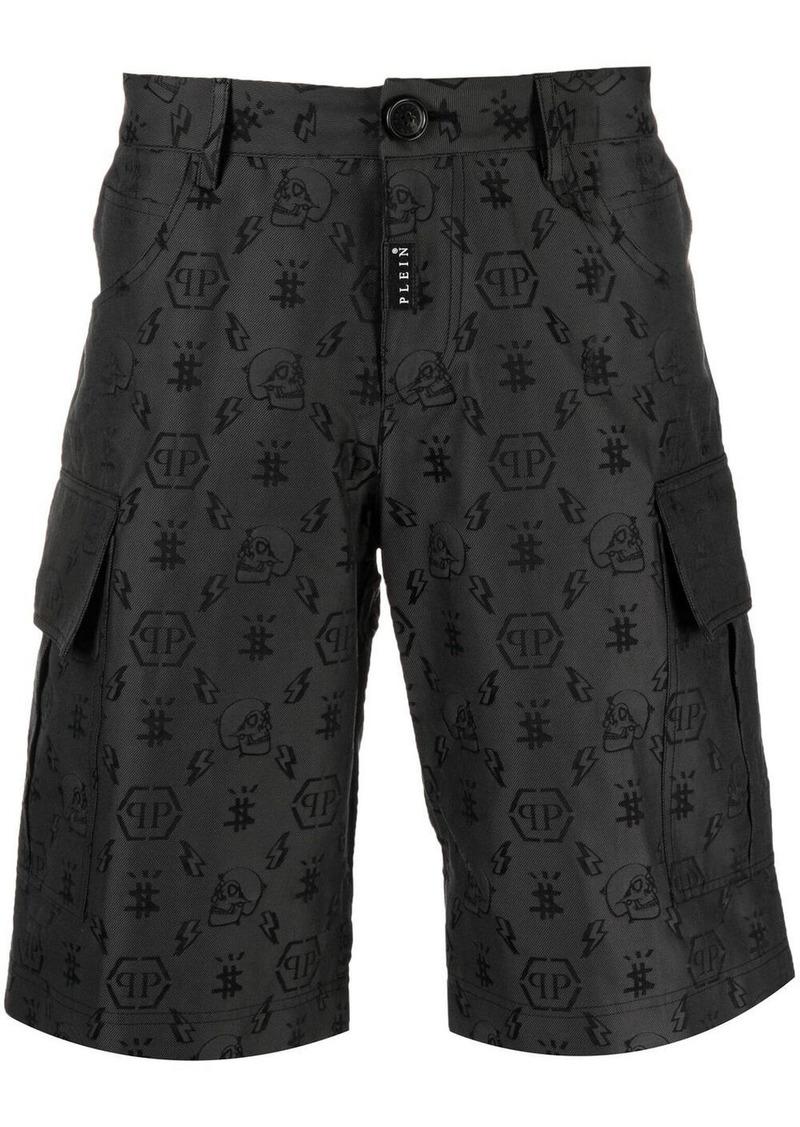 Philipp Plein jacquard-monogram cargo shorts