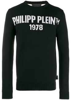 Philipp Plein knit logo print pullover