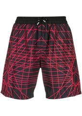 Philipp Plein laser print drawstring swim shorts