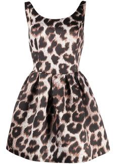 Philipp Plein leopard-print mini dress