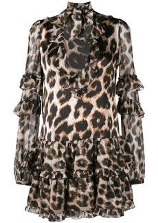 Philipp Plein leopard print mini dress