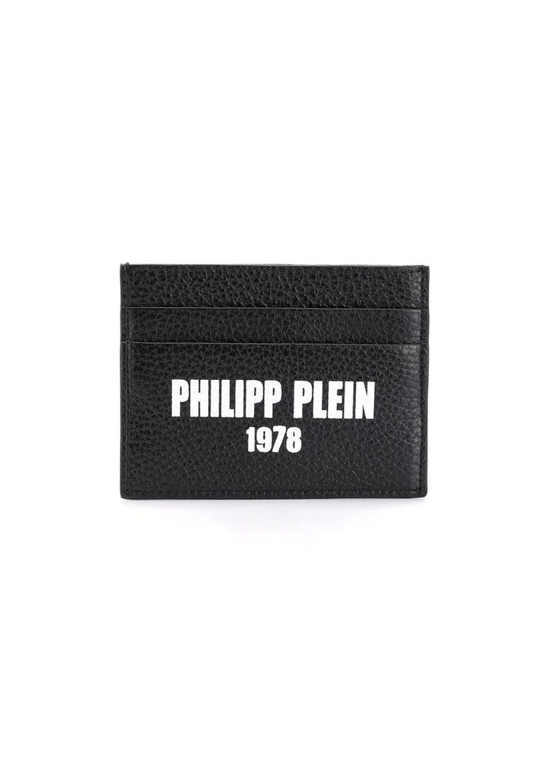Philipp Plein logo credit card holder
