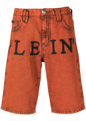 Philipp Plein logo denim shorts