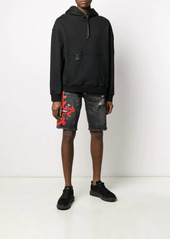 Philipp Plein logo embroidered distressed shorts