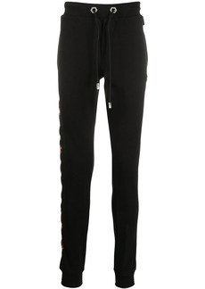 Philipp Plein logo embroidered tapered track pants