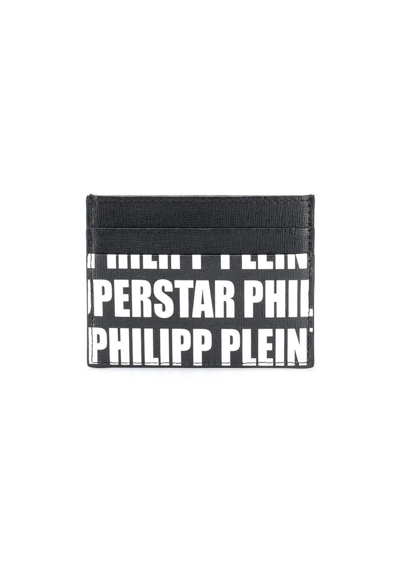 Philipp Plein logo print cardholder