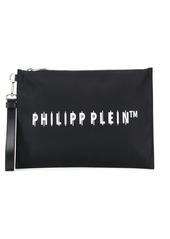 Philipp Plein logo print clutch