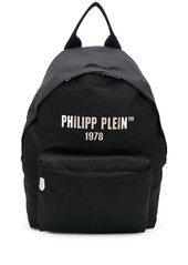 Philipp Plein logo-print medium backpack