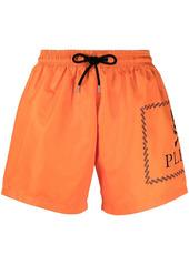 Philipp Plein logo-print swim shorts