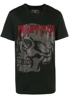 Philipp Plein logo skull crew neck T-shirt