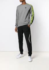 Philipp Plein logo stripe track pants