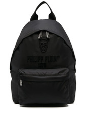 Philipp Plein logo zipped backpack