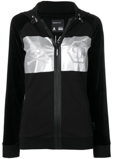 Philipp Plein metallic print hoodie