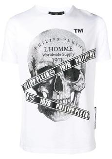 Philipp Plein microstud tape skull T-shirt