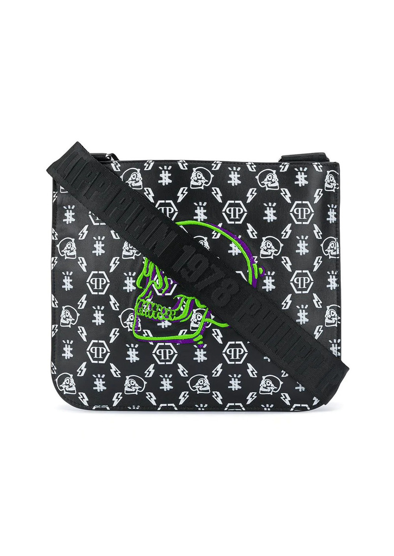 Philipp Plein monogram messenger bag