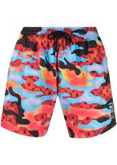 Philipp Plein monogram-print swim shorts