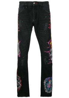 Philipp Plein patchwork straight-leg jeans