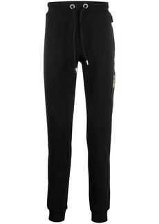 Philipp Plein rear embellished cotton track pants