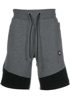 Philipp Plein ribbed hem cotton track shorts