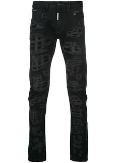Philipp Plein ripped slim-fit jeans