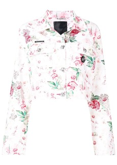 Philipp Plein rose printed jacket