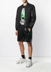 Philipp Plein shine finish track shorts