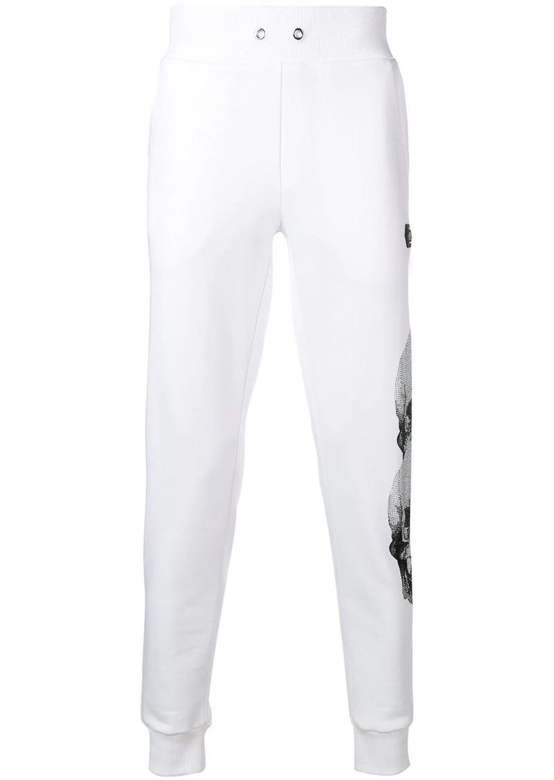 Philipp Plein side skulls and logo track pants