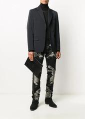 Philipp Plein skull-detail leather clutch bag