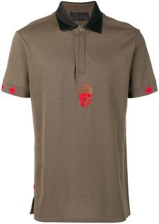 Philipp Plein skull embroidered polo shirt