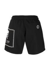 Philipp Plein skull logo-print swim shorts