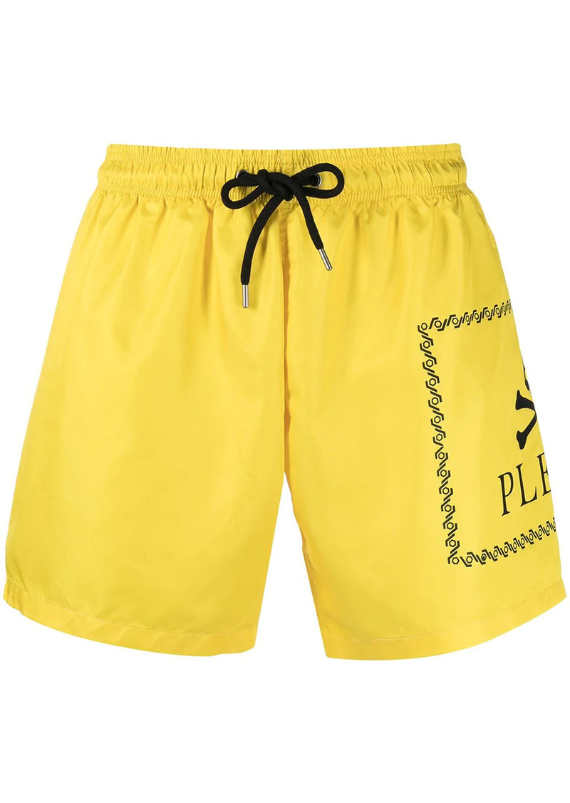 Philipp Plein skull-logo swimshorts