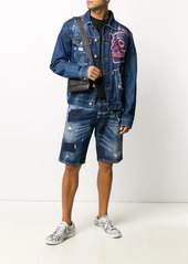 Philipp Plein Skull On Fire bermuda shorts