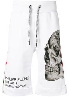 Philipp Plein skull print shorts
