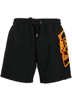 Philipp Plein skull-print swim shorts