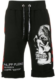 Philipp Plein skull print track shorts