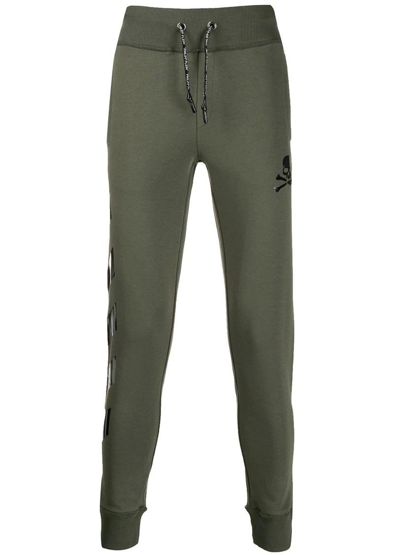 Philipp Plein skull print track trousers