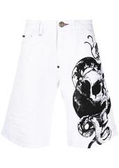 Philipp Plein Skull St. Tropez-fit denim shorts