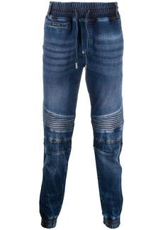 Philipp Plein slim-fit drawstring denim jeans
