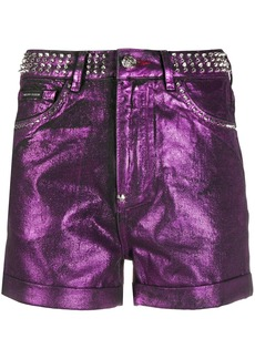 Philipp Plein spike-studded hot pants