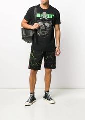 Philipp Plein splattered paint cargo shorts