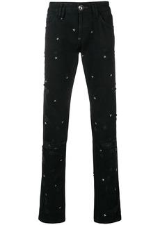 Philipp Plein star studded jeans