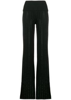 Philipp Plein Strass flared trousers