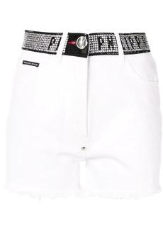 Philipp Plein stud-detail denim shorts