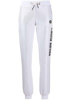 Philipp Plein studded cotton blend track pants