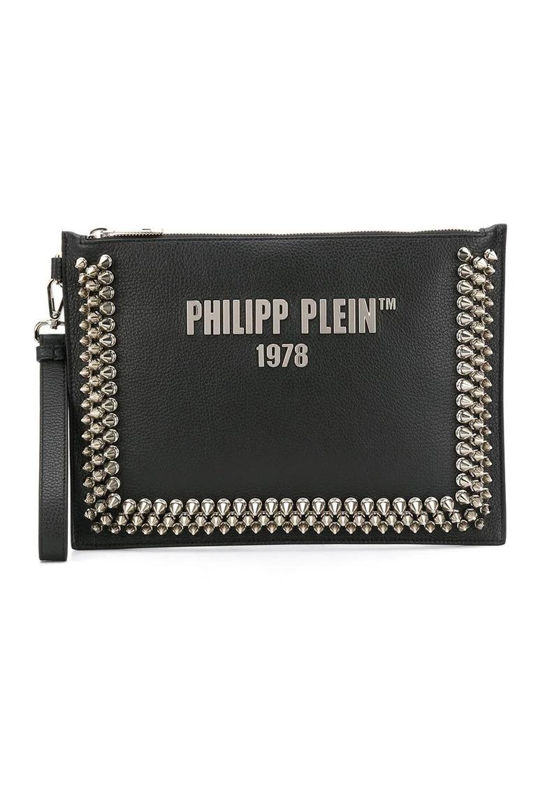 Philipp Plein studded logo clutch